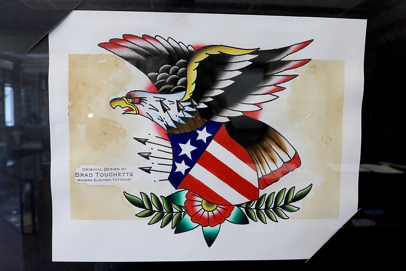 A piece of art done by tattoo artist Brad Touchette who works at Fight or Flight Tattoo Piercing on Summer Street in Fitchburg. SENTINEL & ENTERPRISE/JOHN LOVESENTINEL & ENTERPRISE/JOHN LOVE