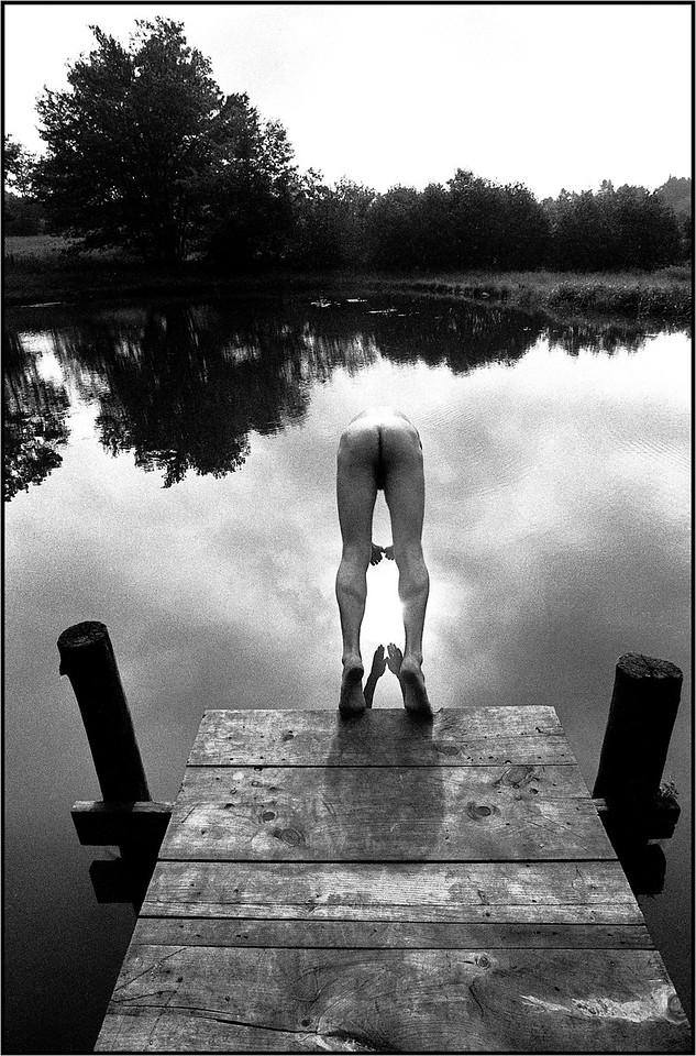 Symmetrical Dives. B&W film, 1979