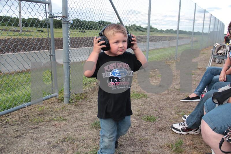 Young race fan