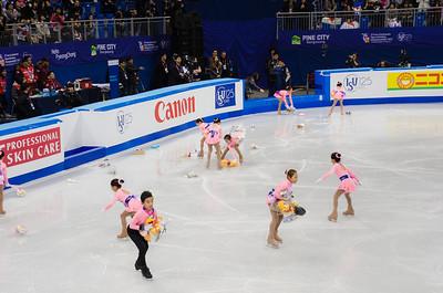 Clearing the ice after Yuzuru Hanyu's short program