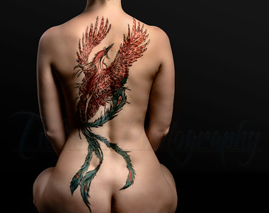 Woman with the Phoenix Tattoo