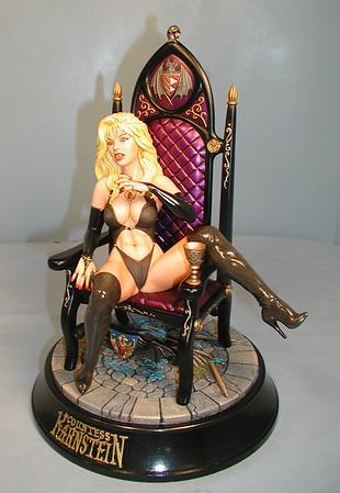 Karnstein on throne