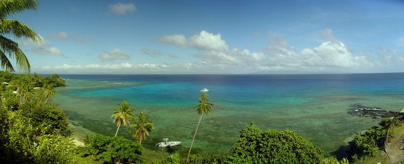 View of coastline from Makaira By the Sea, Taveuni, Fiji
