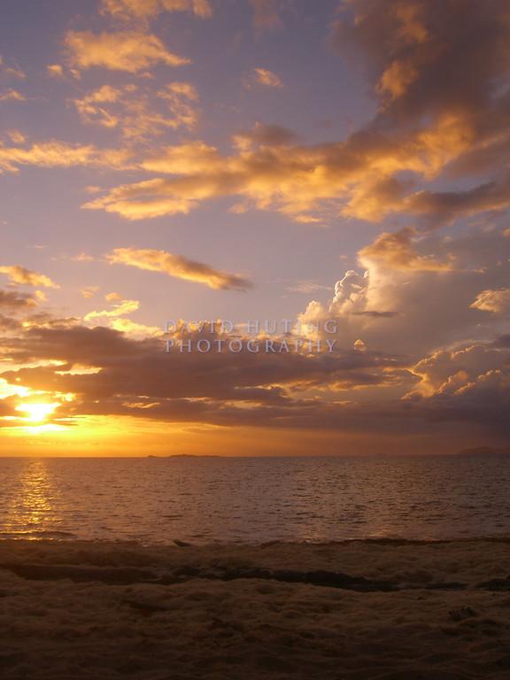 Sunset on Beachcomber Island<br /> (Vertical)