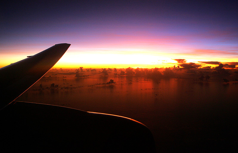 Window view-Fiji sunrise