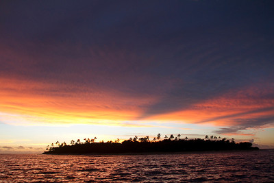 Tavarua Island silhouette