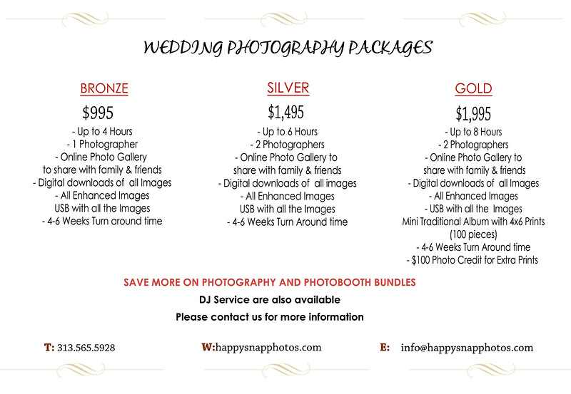 Wedding Packages 2019