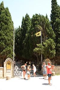 Entrance to Filerimos Monastery.