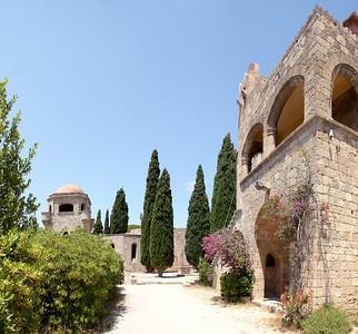Filerimos monastery grounds.