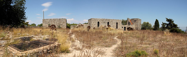 Old Byzantine Fortress behind Filerimos monastery.