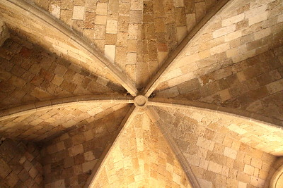 Church dome ceiling, looking up.