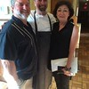 Bill and Patti Finnegan of North Attleboro with Executive Chef Anthony De Palma, center, of Acton