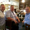 From left, Owner Ozzie Filho of Groton, Frank Widmayer of Acton and Don Palma of Groton