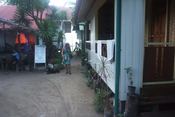 Przed naszym domkiem