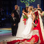 Transitioning the Queen\'s regalia from Briana Lathon to Madison Orman.