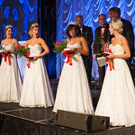 The princesses react as the wheel determines which of them will be this year\'s Queen. Andi Dahmer, Stephanie Dooper, Madison Orman, Millicent Cahoon and Adrienne Poole.