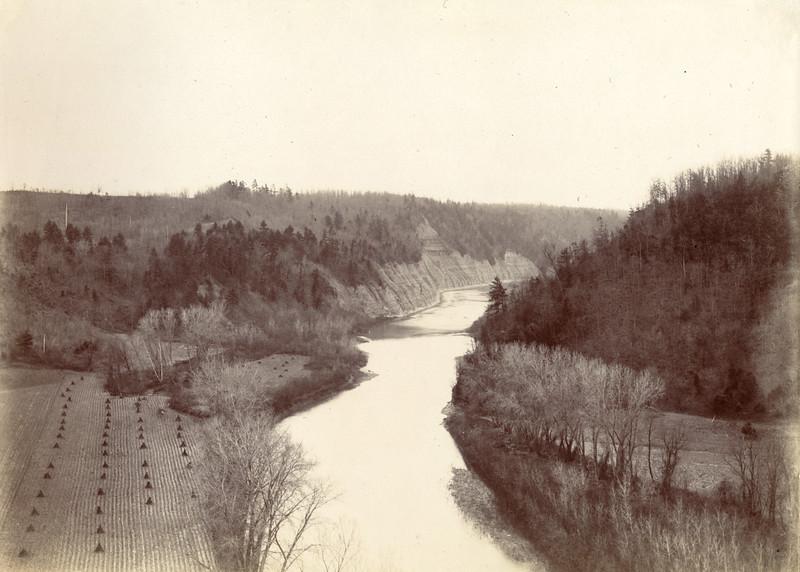 Genesee River near Mount Morris circa 1900 / Photo by Albert T Hill