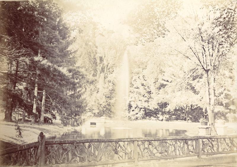 Fountain at Glen Iris Circa 1900 / Photo by Albert T Hill