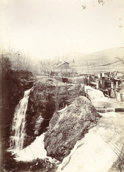 Gibsonville Falls and village circa 1900 / Photo by Albert T Hill