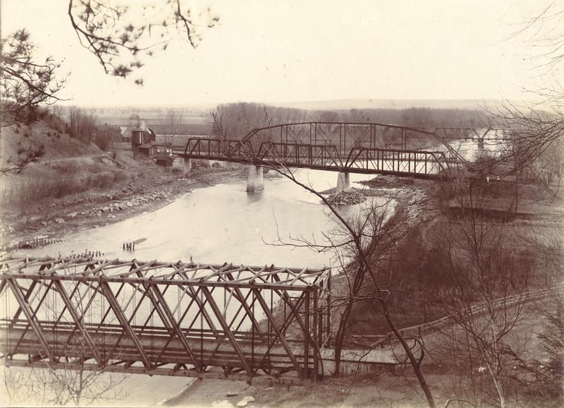 Bridges at Mt. Morirs circa 1900 / Photo by Albert T Hill