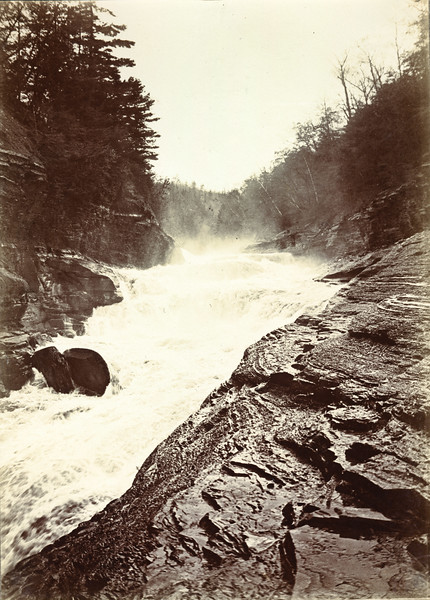 Genesee River at Lower Falls circa 1900 / Photo by Albert T Hill