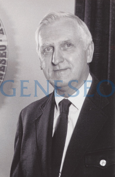 """1963 MacVittie Named President<br /> Francis Moench retired, and Robert W. MacVittie—for whom the MacVittie College Union was named—became president, serving from 1963 until 1979, with a bonus stint as acting president in 1988–89. MacVittie presided over unprecedented campus expansion, overseeing the opening of 24 buildings, from residence and dining halls to academic and administrative buildings. Total enrollment more than doubled and the number of faculty almost tripled, helping to ignite ambitious student recruitment and fundraising programs that set SUNY Geneseo on its way to national recognition. SUNY Provost Harry Porter believed """"anybody could work with Dr. MacVittie,"""" who was known as a consensus builder."""