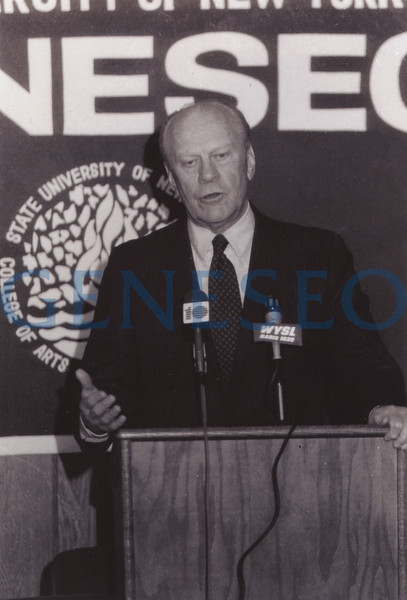 1989 First Wadsworth Lecture <br /> In November, Gerald Ford delivered the first James Jeremiah Wadsworth Lecture