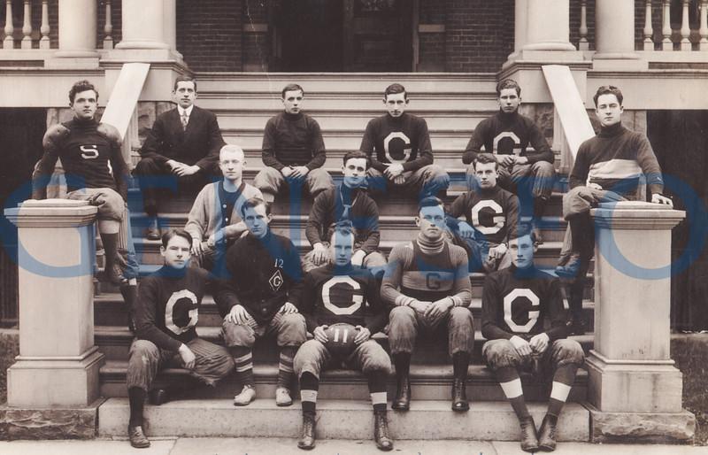 1905 James Sturges, the First Post-Milne Principal. Photo: The 1911 football team included (front, from left): Dudley, Watson, Schaefer, K. Werner; (center): Davis, Friar, Campbell; (back): Stevens, Flansburg, SCott, Grey, Leonard Barber. Livingston County HIstorian