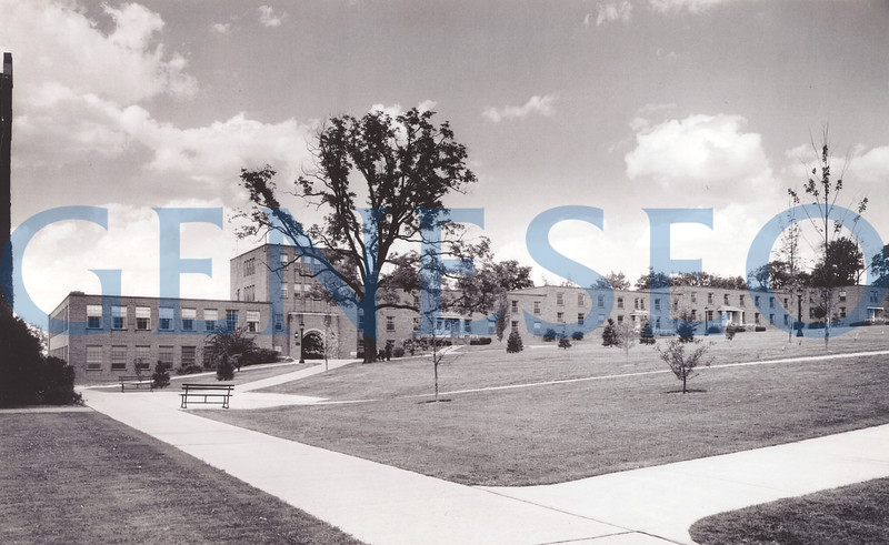 1950–51 Blake A–E Opened to Students<br /> Blake was originally subdivided into A, B, C, D, and E sections, which were named College Center, Bailey, Fraser, Blake, and Sturges respectively. Blake B–E comprised four residence halls that housed 200 students, each of whom paid $145 per ten-week quarter for room and board. The building's name honored Anne S. Blake, whose 17-year tenure at the College included service as Dean of Women from 1921 until her retirement in 1934. Blake D and E were razed in 2004; the remaining Blake buildings now house faculty offices. [PHOTO: Photo of one of the halls with students in them][photos of Blake construction AND completed Blake buildings