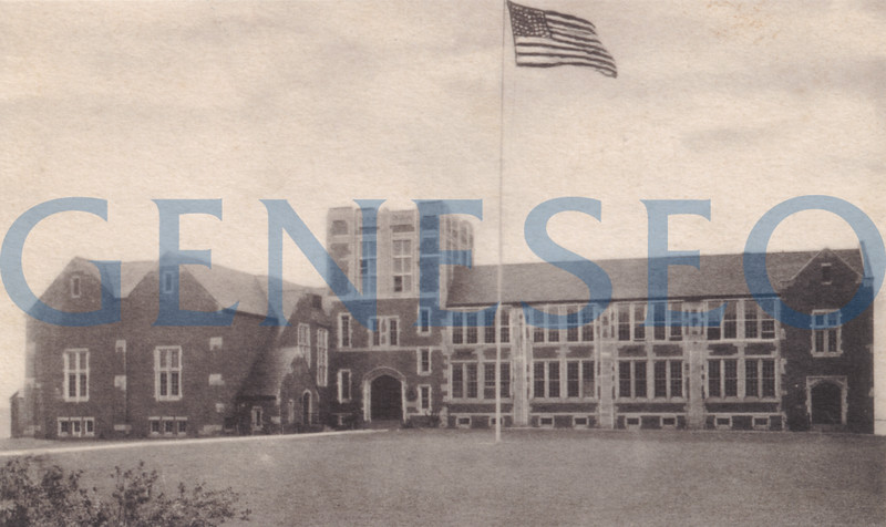 1932 Geneseo Junior-Senior High School Opened<br /> A separate high school, the Geneseo Junior-Senior High School, opened on campus. Now Doty Hall, the building was built on Wadsworth property per an agreement between Geneseo Normal and the District No. 5 boards.