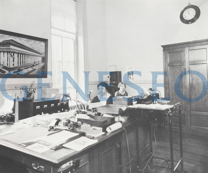 1912 New School Secretary … and More<br /> Frances Brown began as the school secretary, serving 42 years until 1954. Campus legend has that she did it all: preparing and filing the principals' papers and monthly reports, sorting mail, answering prospective students' requests, scheduling classes, and keeping the books for some student organizations.