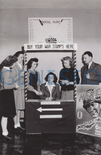1942–45 World War II<br /> The College faced a 50 percent drop in enrollment during World War II. Enrollment for the 1943–44 academic year was only 324, the modern-day low. The Class of 1944 had only one male student, and men's sports were cancelled for the duration. The campus population was bolstered by naval and air cadets beginning September 16, 1942. Other wartime measures included finding room in Old Main for the county rationing board, which had expanded operations beyond its quarters at the courthouse. The College also rearranged students' schedules so they could help harvest or pack produce for civilian and military consumption—including the crops on Professor Guy Bailey's farm on Center Street.