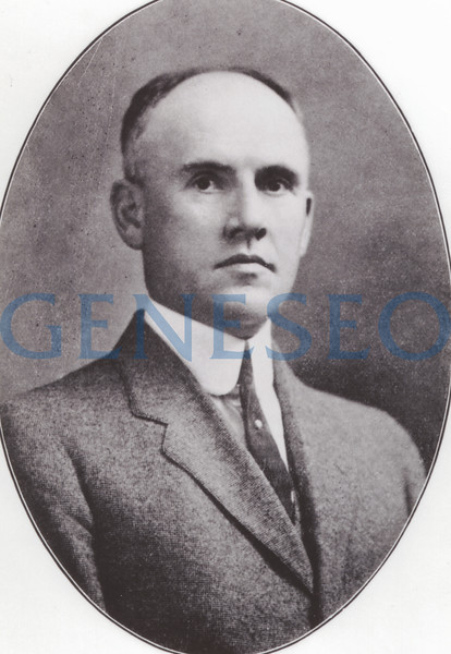 1905 James Sturges, the First Post-Milne Principal<br /> John Milne died on January 7, 1905, of tuberculosis. With his death, James V. Sturges took over the leadership of the Geneseo Normal School from 1905–1922. Due to changes in New York State's education organizational structure, especially the Unification Act of 1904, the Geneseo Normal School went through major changes in its structure and curriculum under Sturges' leadership, including the elimination of the Academic Department in coordination with the creation of a local high school, the introduction of a state-mandated (rather than locally controlled) curriculum, a reorganization of the Training School, and the requirement of a high school diploma for applicants. In addition, Sturges oversaw long-due repairs to existing buildings, adding electrical lighting to the gymnasium, and grading of the grounds to create proper athletic fields. [Sturges photo Mahood p63]