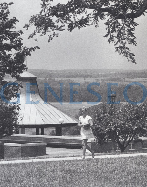 1970 Gazebo Built<br /> Geneseo built the gazebo as a place for the college community to gather and appreciate breathtaking sunsets and views over the valley. It was designed by Edgar Tafel, apprentice of renowned architect Frank Lloyd Wright.