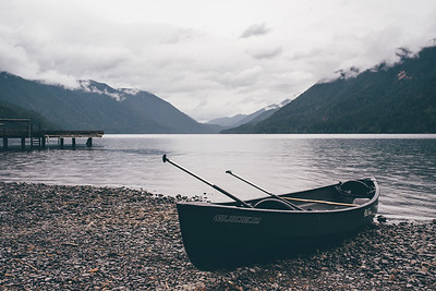 Canoeing on Lake Crescent