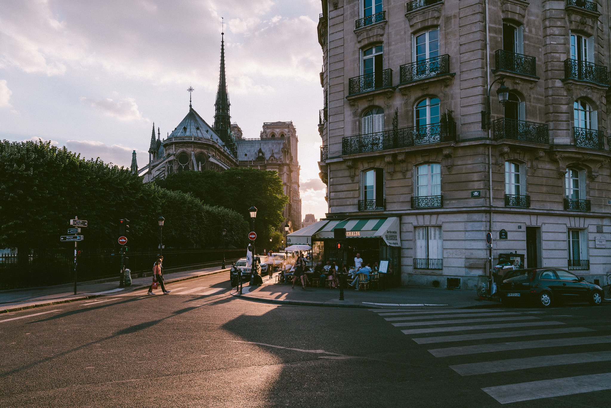 Cafe Sunset in Paris