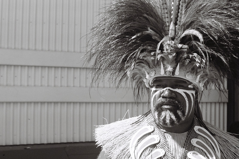 James Akiba, a Saibai Island dancer at Cairns Indigenous Art Fair 2019