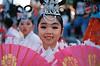 Girl in Korean national dress at Cairns Festival 2018
