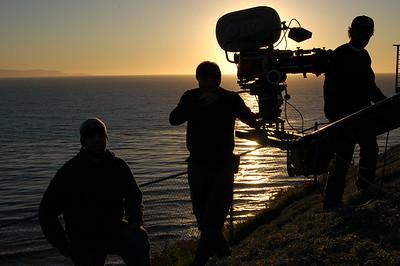 Crew in Malibu at sunset