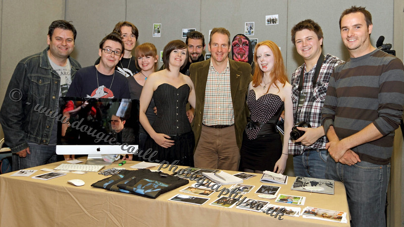 """Chris Barrie (Red Dwarf) with """"Night is Day"""" Cast and Crew"""