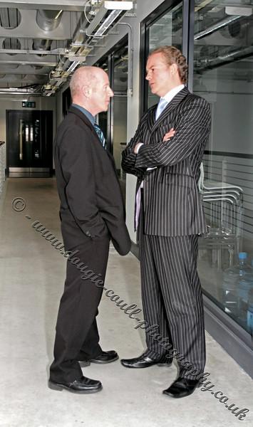 John Gaffney (Superintendent Sloan) and Simon Weir (CS Carlisle)