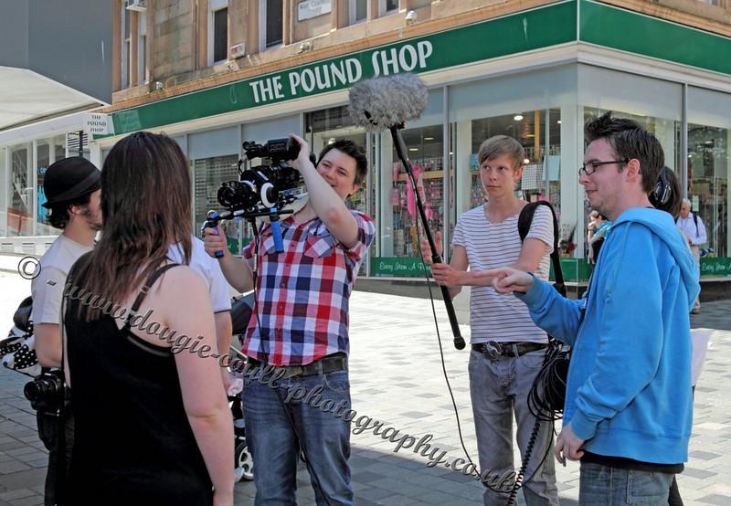 Filming in Sauchiehall Street, Glasgow