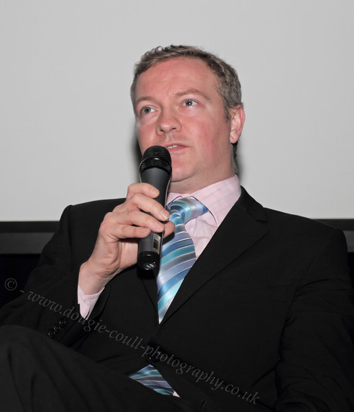 Simon Weir at the Q & A Session of NiD Premiere - 22 February 2012