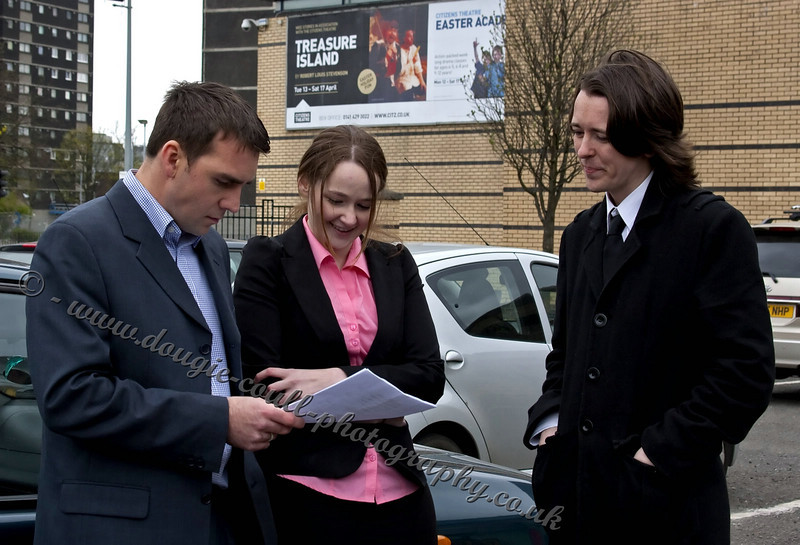 Inspector Munro (Clare), DCI Mullan (Steven), and PC Douglas (Kenny)