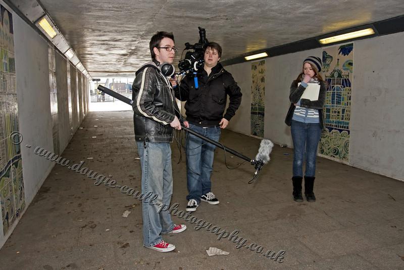 Fraser (Director), Simon ( Camera), and Kirsty (Lena)