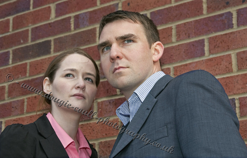 Clare (Inspector Munro) and Steven (DCI Mullan)