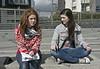 Kirtsy (Lena) is met by Vharri (Sara)