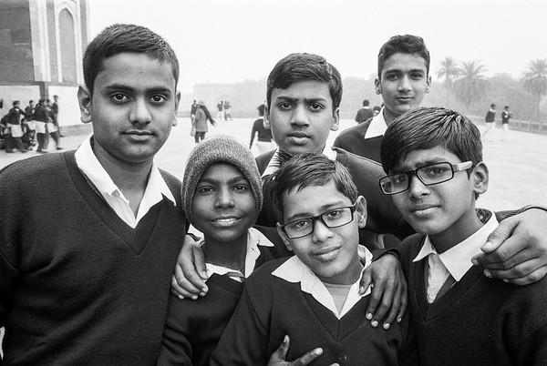 School kids at Humayun's Tomb