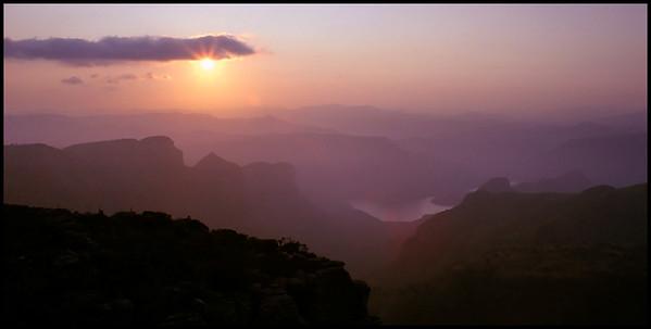 Sunset from Mariepskop, South Africa