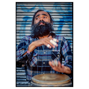 NYC Street Drummer_7706